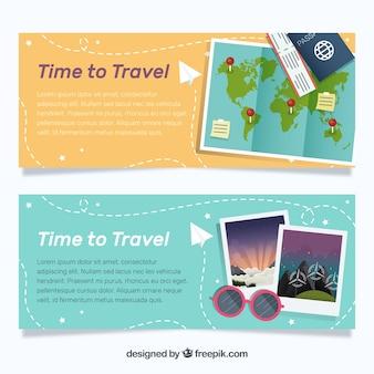 Banner de tiempo de viajar