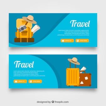 Banner de viaje de safari