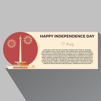 Banner del día de la independencia de indonesia