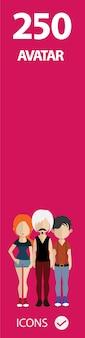Banner rosa de avatar