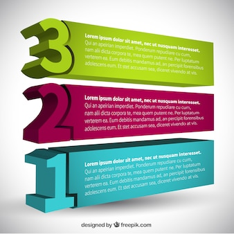 Banners 3d infografía