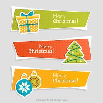 Banners abstractos de navidad