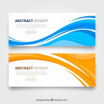 Banners abstractos de ondas