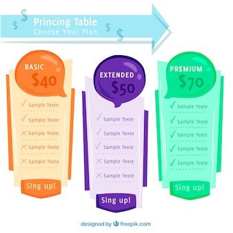 Banners abstractos de precios dibujados a mano