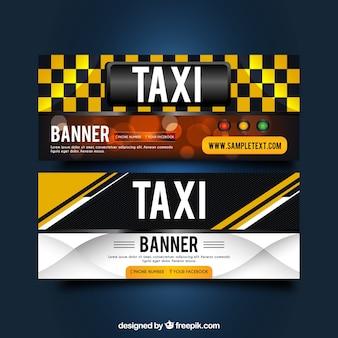 Banners abstractos de taxi