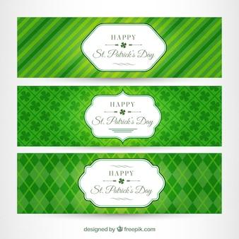Banners abstractos verdes del día de San Patrick