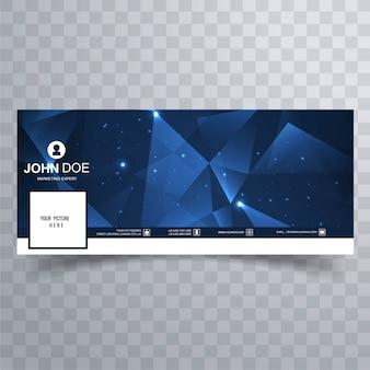 Banners azules poligonales para facebook