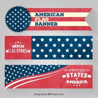 Banners bandera americana