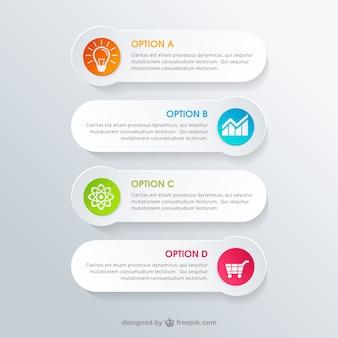 Banners blancas infografía