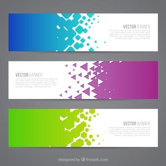 Banners coloridas abstractas