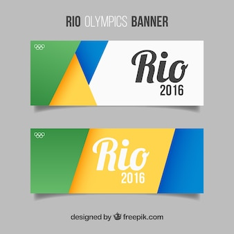 Banners coloridos abstractos de juegos olímpicos