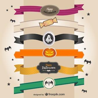 Banners coloridos de Halloween