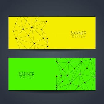 Banners coloridos de tecnología