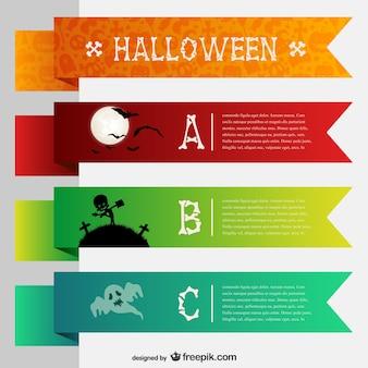 Banners coloridos para Halloween