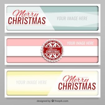 Banners con detalles navideños