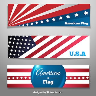 Banners con la bandera americana