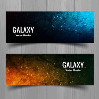 Banners de acuarela de astronomía
