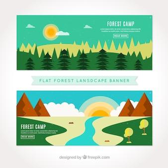 Banners de bonitos paisajes