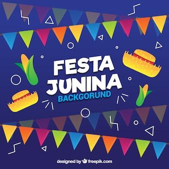 Banners de celebración de fiesta junina