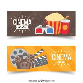 Banners de cine con elementos