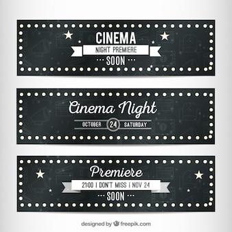 Banners de cine en estilo cartel luminoso