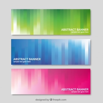 Banners de colores abstractos