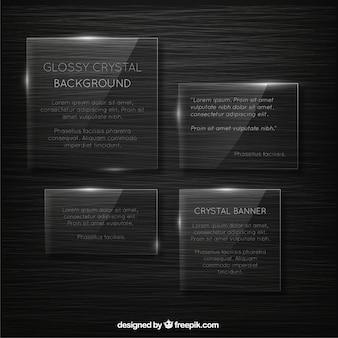 Banners de cristal brillante
