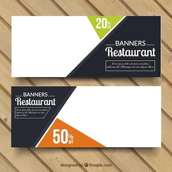 Banners de de descuento de restaurante
