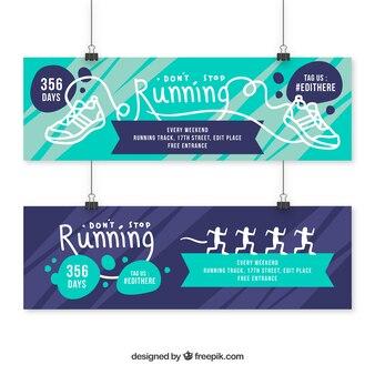 Banners de deporte con dibujos