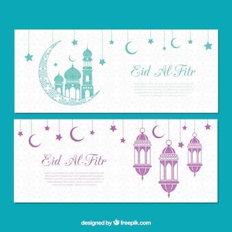 Banners de eid al fitr