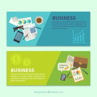 Banners de elementos de negocios