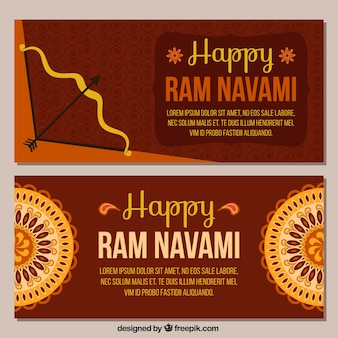 Banners de feliz ram navami