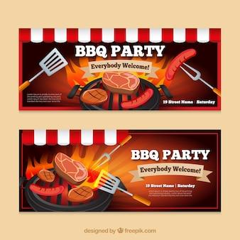 Banners de fiesta de barbacoa