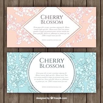 Banners de flor del cerezo geniales