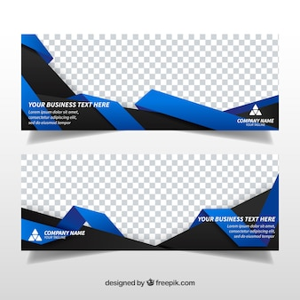 Banners de formas abstractas de negocios