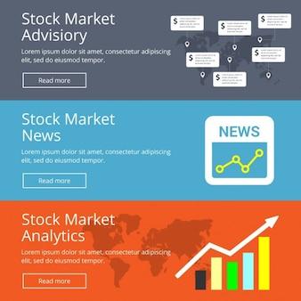 Banners de infografías con estadísticas