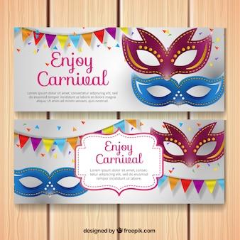 Banners de máscaras venecianas