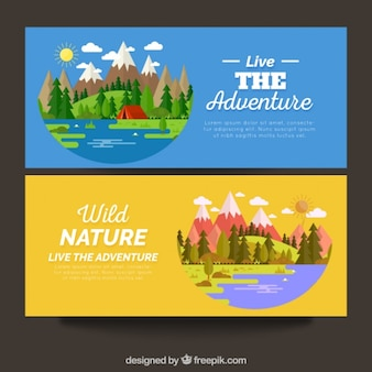 Banners de naturaleza salvaje