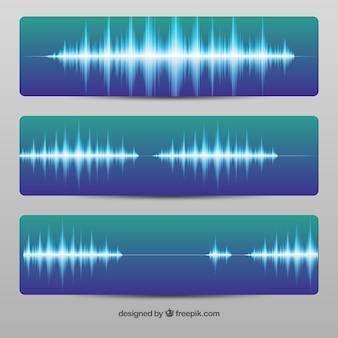 Banners de onda de sonido