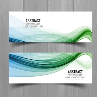 Banners de ondas elegantes en dos colores