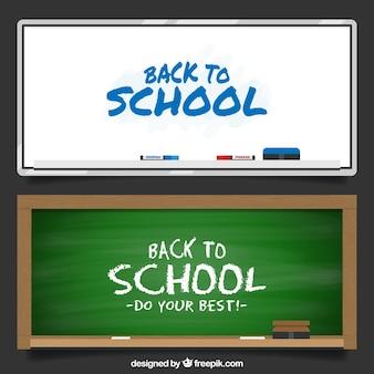 Banners de pizarra de colegio