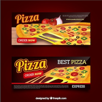 Banners de pizza con queso