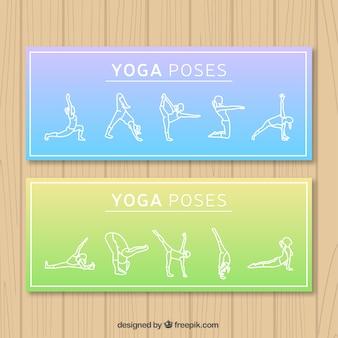 Banners de poses de yoga
