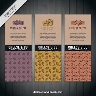 Banners de queso gourmet