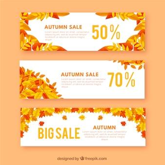 Banners de rebajas de otoño