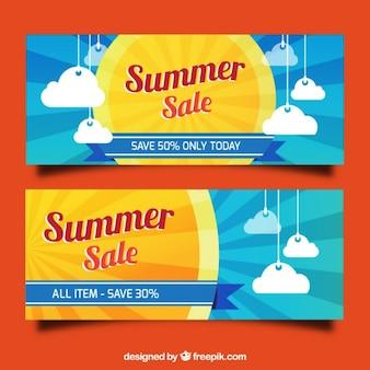 Banners de rebajas de verano