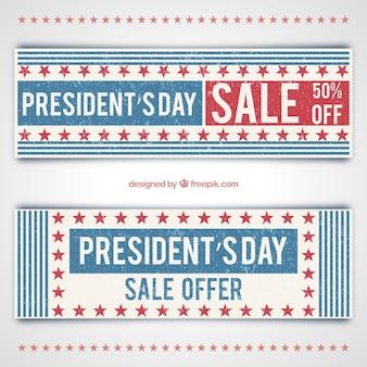 Banners de rebajas del día del presidente