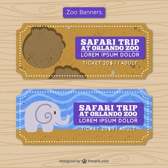Banners de safari en diseño plano