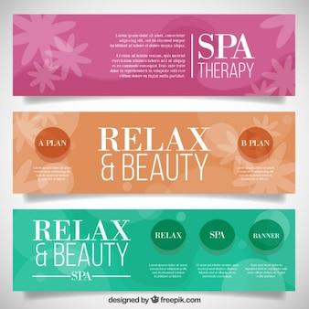 Banners de spa florales de colores