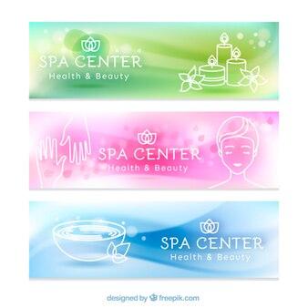 Banners de spa relajantes